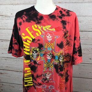 Guns N' Roses Tie Dye Rock Band T-Shirt Size XXL
